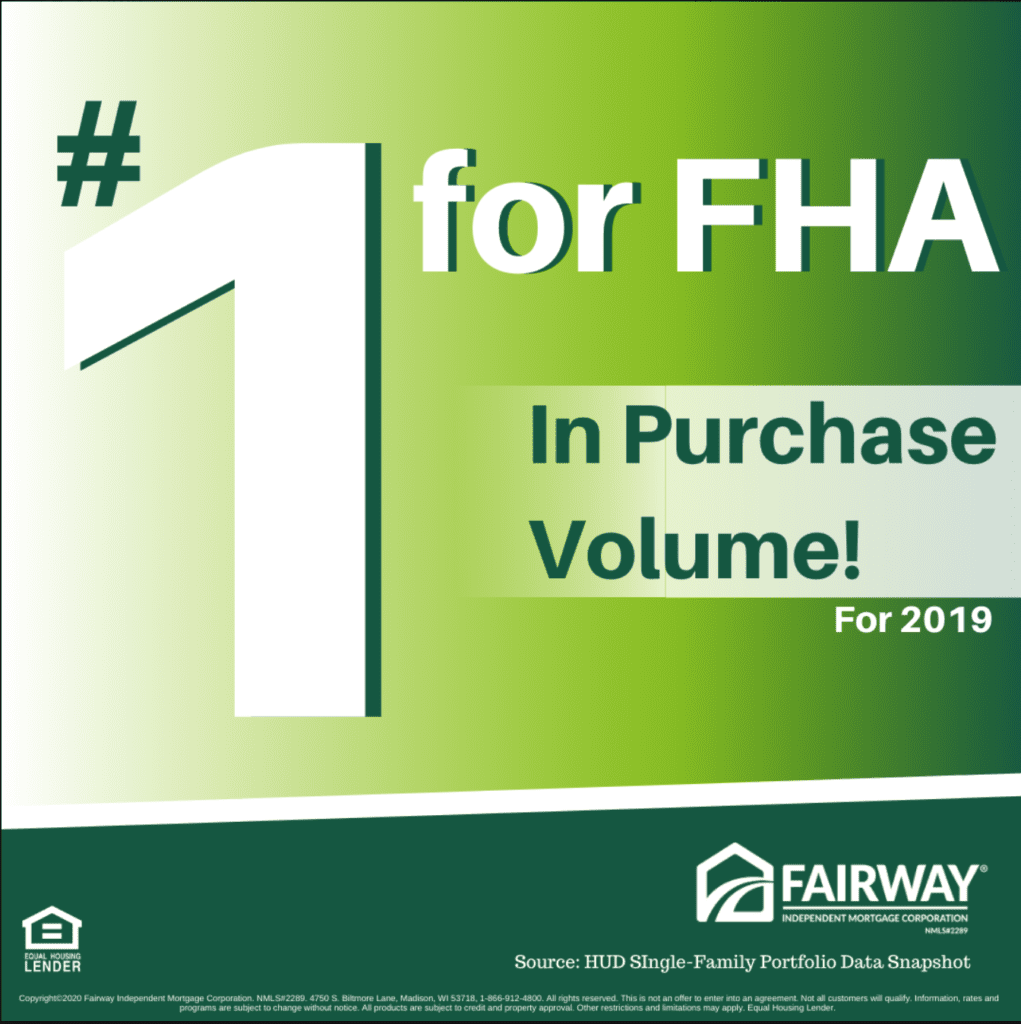 1 for FHA - fairway about us
