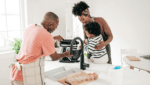 family cooking & baking in their new home- best charlotte home loans blogs