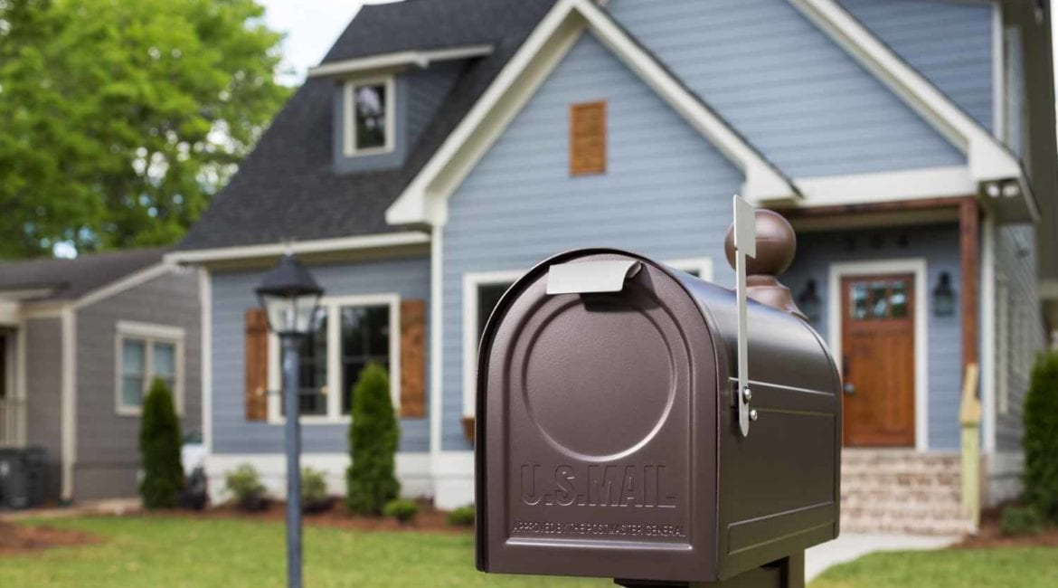 mailbox outside of a home - build theft-free mailbox