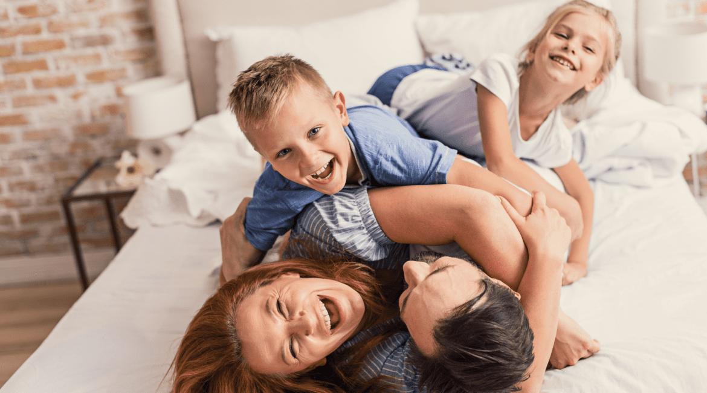 happy family hugging - blog