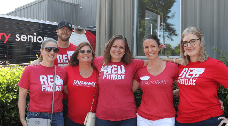 Fairway team volunteers and second harvest food bank